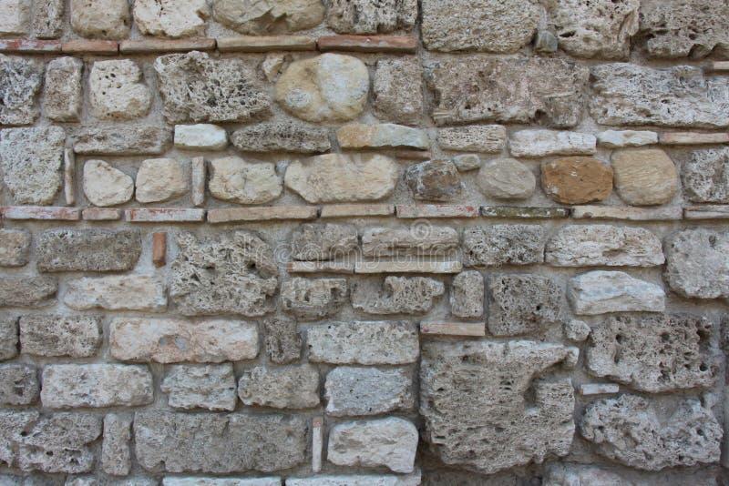 En forntida vägg royaltyfri bild