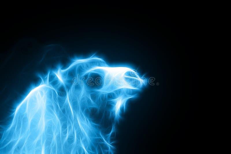 En fractalbild av en blå kamel vektor illustrationer