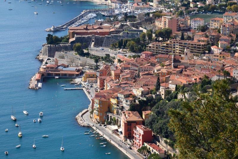 La France, Villefranche-sur-Mer, citadelle photo libre de droits