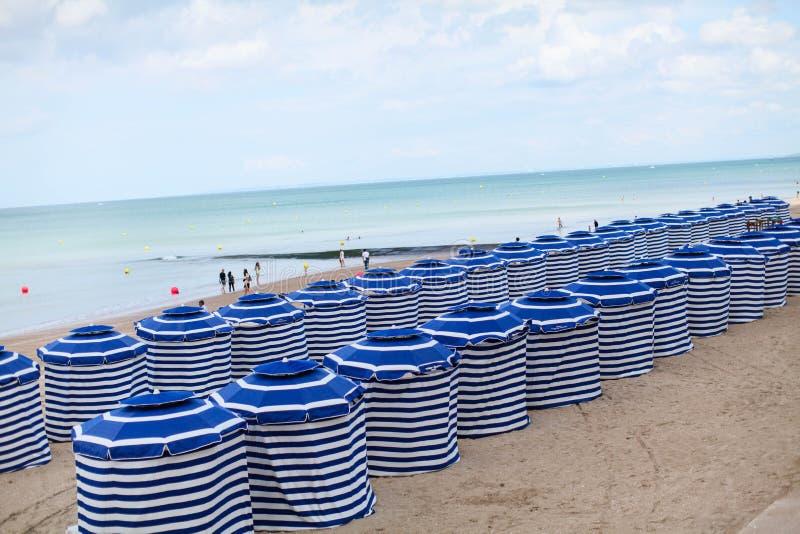 En fransk strand royaltyfria foton