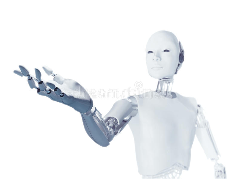 En futuristisk android arkivfoton
