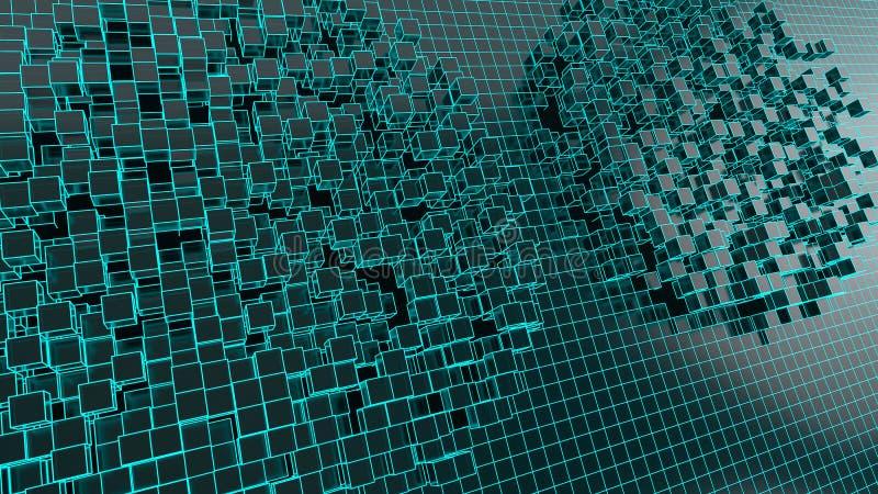en futuristisk bakgrundsbild med kuber ( tolkning 3d vektor illustrationer