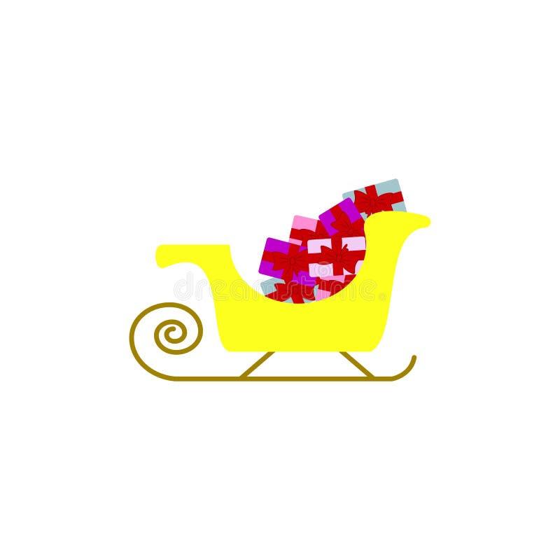 En gåva framlägger symboler på vagnen stock illustrationer