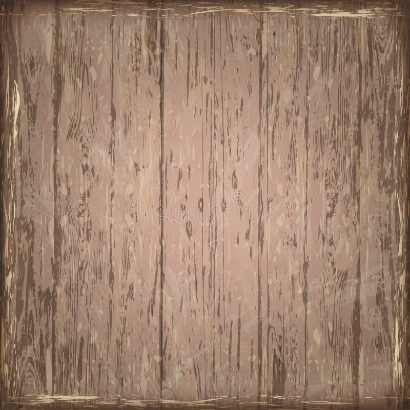En gammal brun sliten träbrädebakgrund, textur Retro trälodisar royaltyfri bild