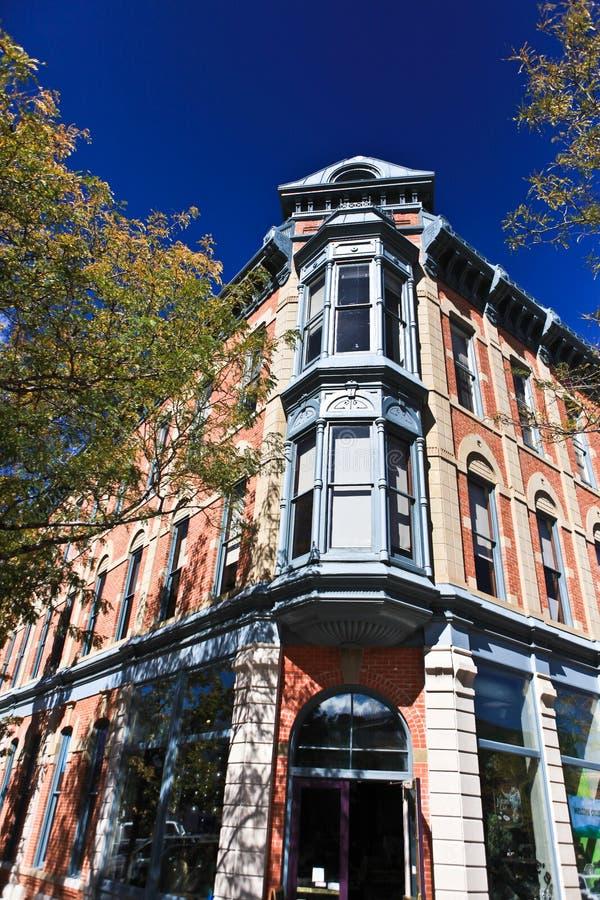 Gammal Town Fort Collins arkivbild