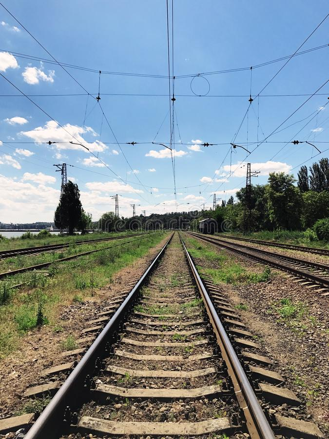 En gammal järnväg royaltyfria foton