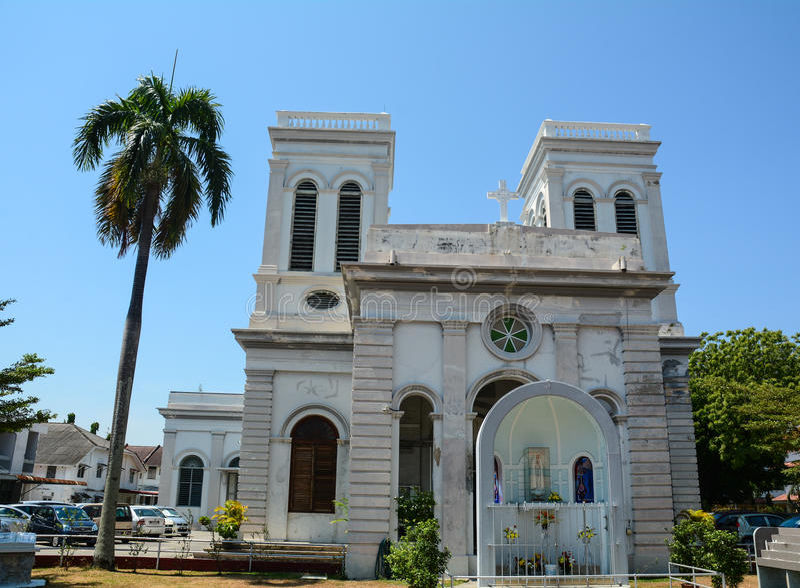 En gammal kyrka i Georgetown, Malaysia arkivfoton