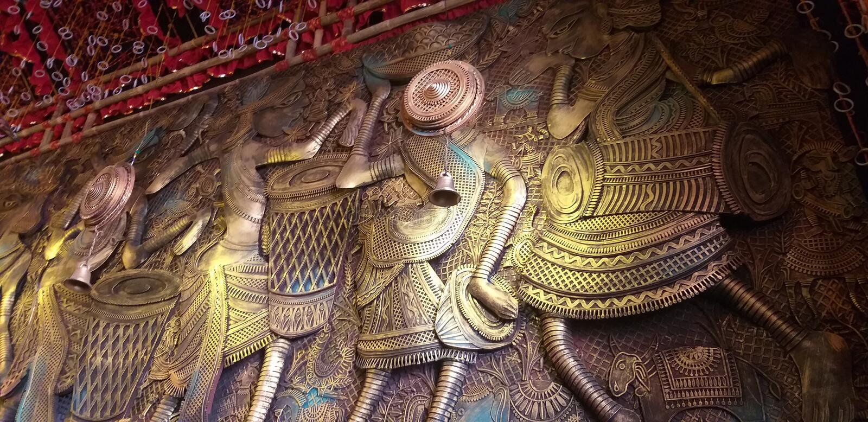 En garnering i en tempel royaltyfri fotografi