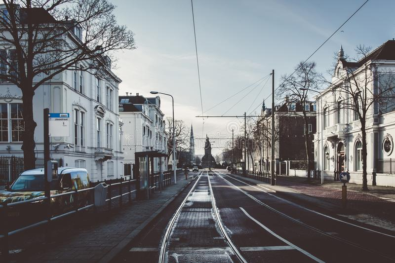 En gata i Den Haag royaltyfri foto