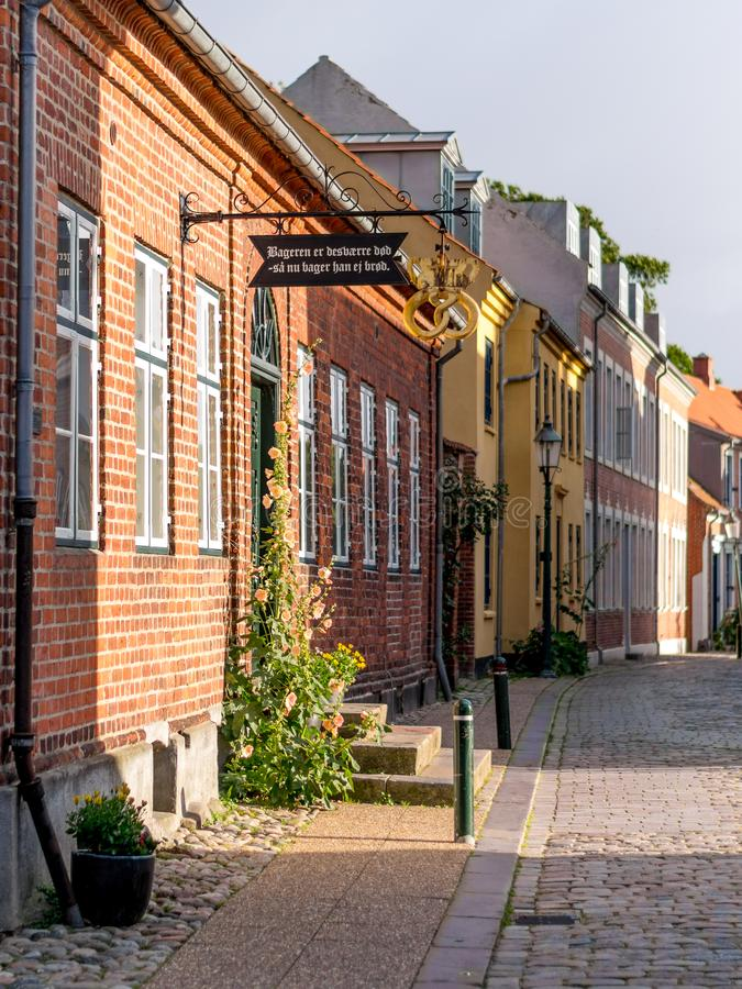 En gata i Viborg, Danmark royaltyfria foton