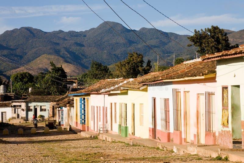 Hus Trinidad, Kuba royaltyfria foton