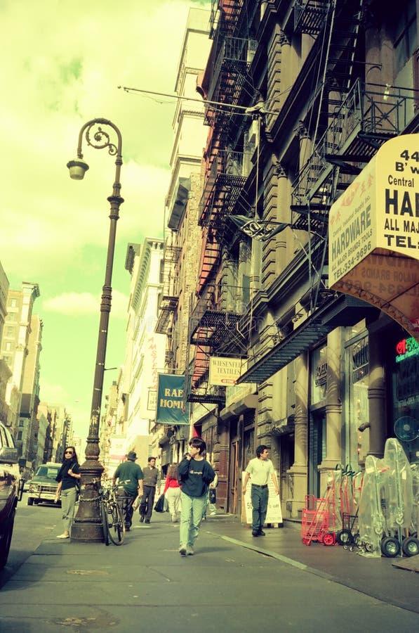 En gataplats av SOHO lägre Manhattan, New York City arkivfoto
