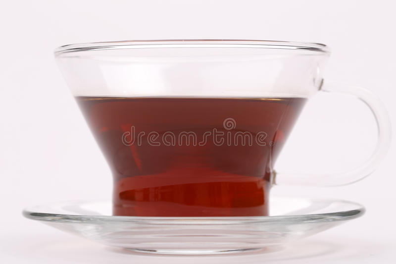 En glass teacup royaltyfria bilder