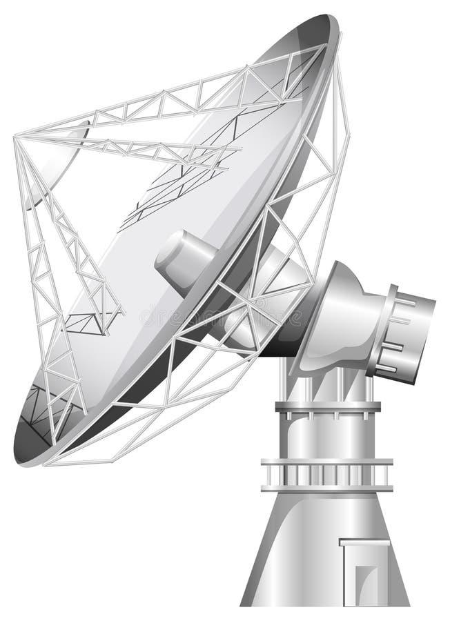 En grå satellit stock illustrationer
