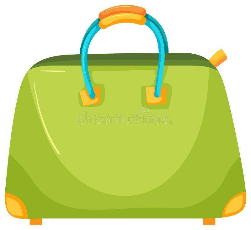 En grön trendig kvinnlig handväska stock illustrationer