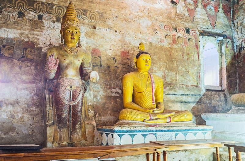 En grandes reyes Cave de Dambulla imagen de archivo libre de regalías