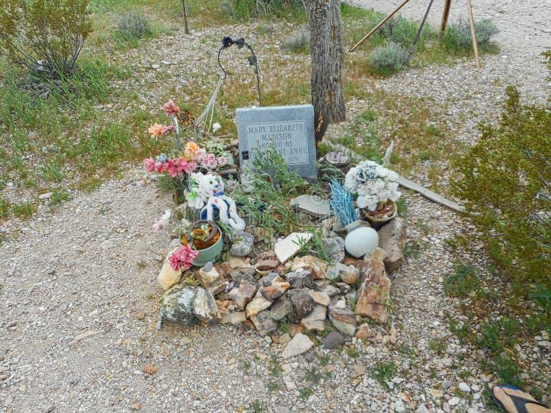 en grav från en cowgirl i Texas arkivbild