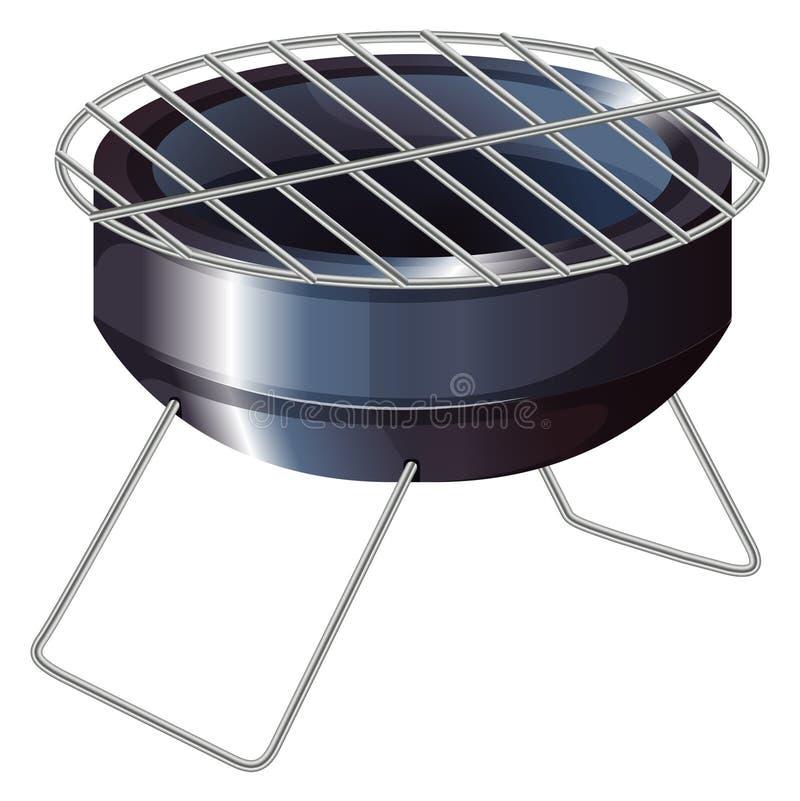 En grillfest som grillar ugnen stock illustrationer