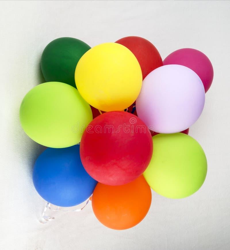 En grupp av ballonger arkivbilder