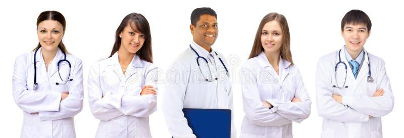 En grupp av bra doktorer. arkivfoton