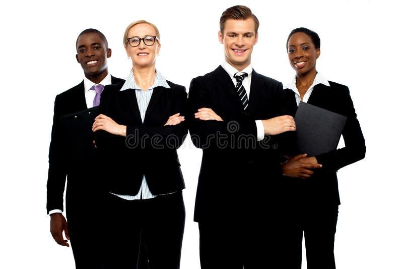 En grupp av ungt attraktivt affärsfolk royaltyfria foton