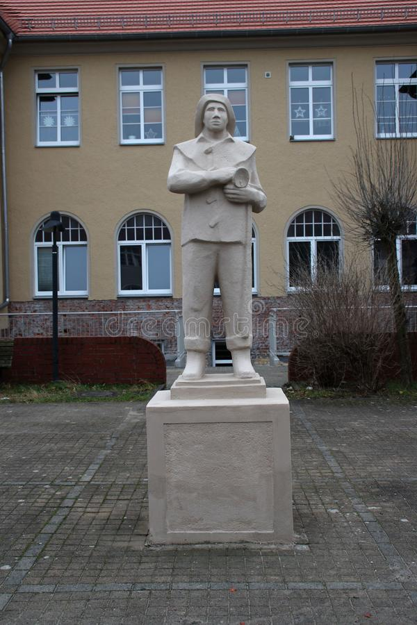 En gruvarbetaremonument i Östtyskland royaltyfri fotografi