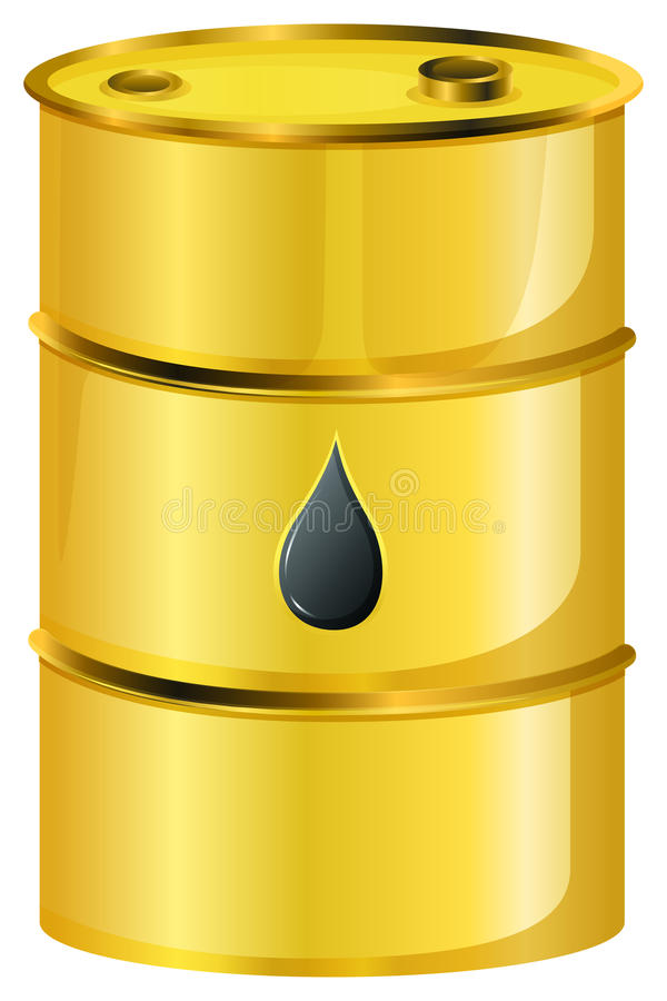En guld- olje- trumma vektor illustrationer