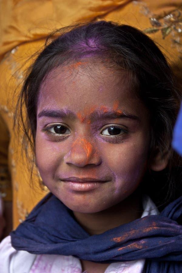En gullig sikhflicka på den Hola mohallaen, Indien royaltyfri foto