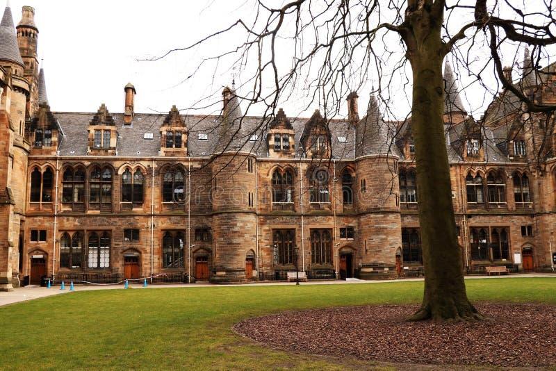 En härlig byggnad och en trevlig arkitektur i Glasgow arkivfoto