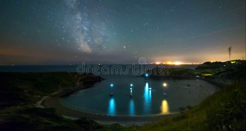 En härlig fotografifläck på den södra västkusten av England, på den jurassic kusten royaltyfria bilder