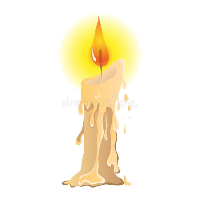 En härlig illustration av den smältande stearinljuset vektor illustrationer