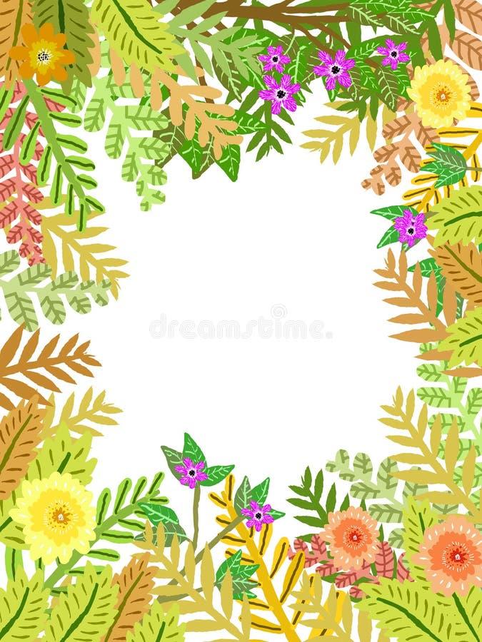 En härlig illustration som kan användas som en vykort eller för något annat dekorativt bruk stock illustrationer
