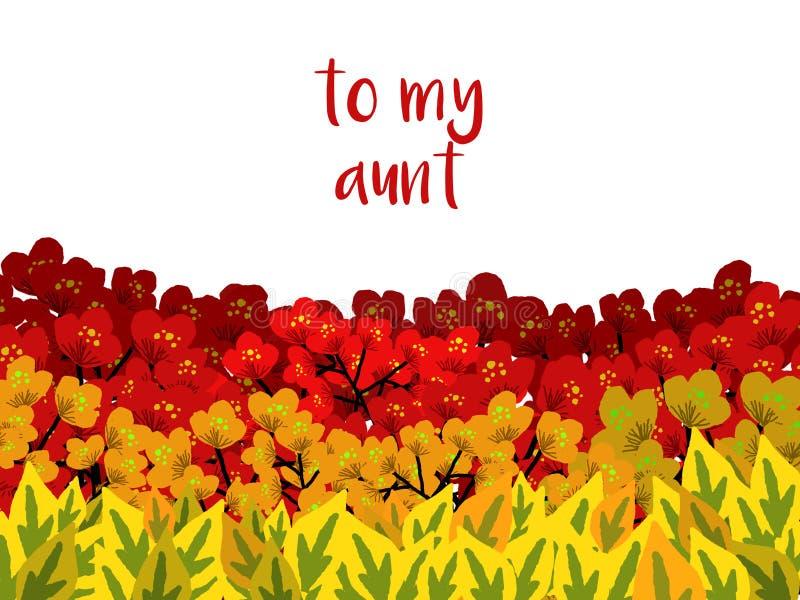 En härlig illustration som kan användas som en vykort eller för något annat dekorativt bruk royaltyfri illustrationer
