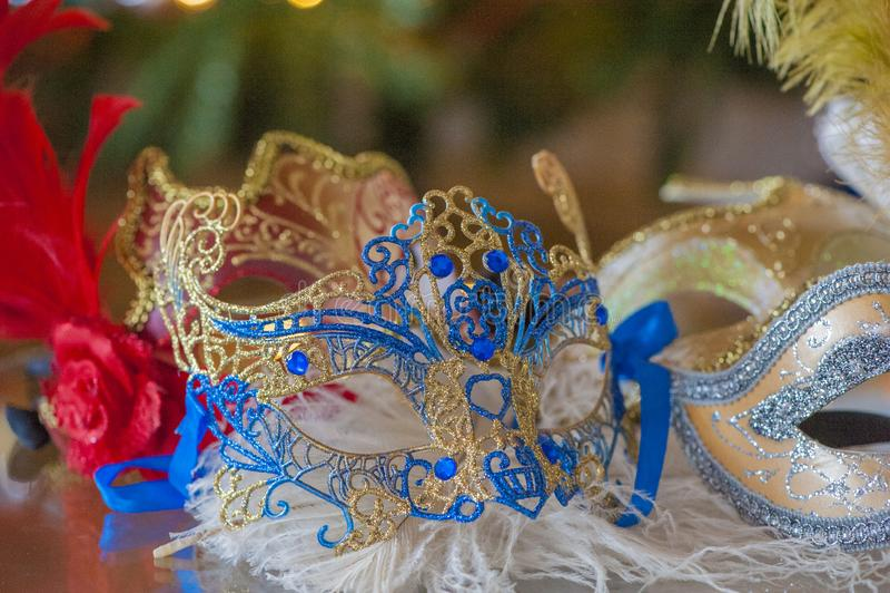 En härlig karneval maskerar - mardigras royaltyfri foto
