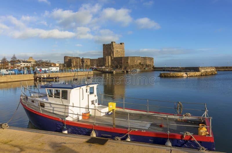 En härlig morgon i Carrickfergus royaltyfri bild