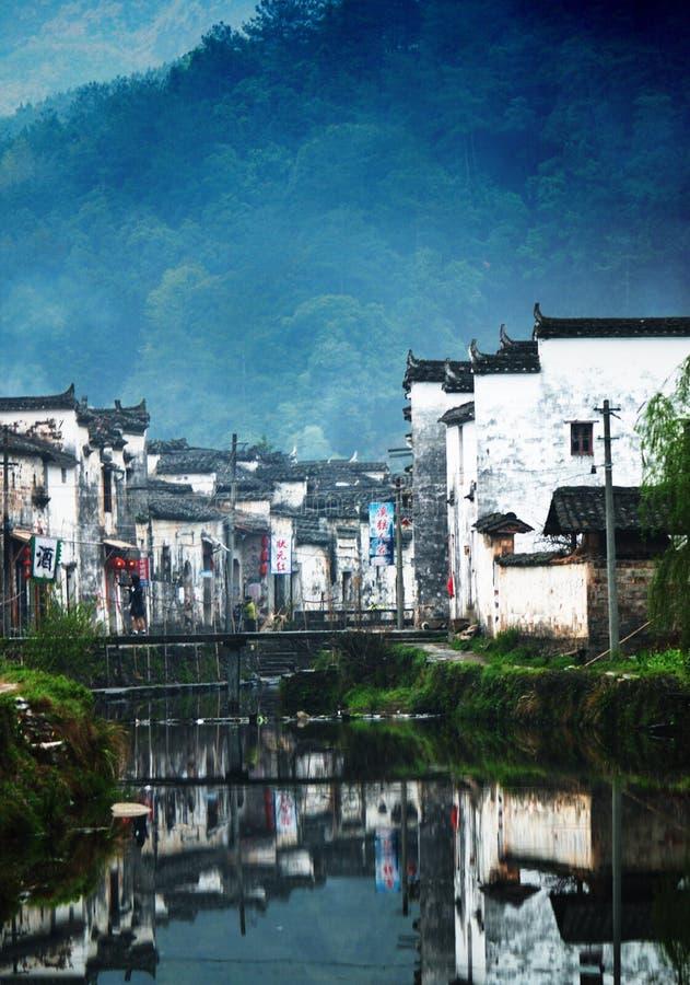 En härlig by precis som en bild arkivfoto