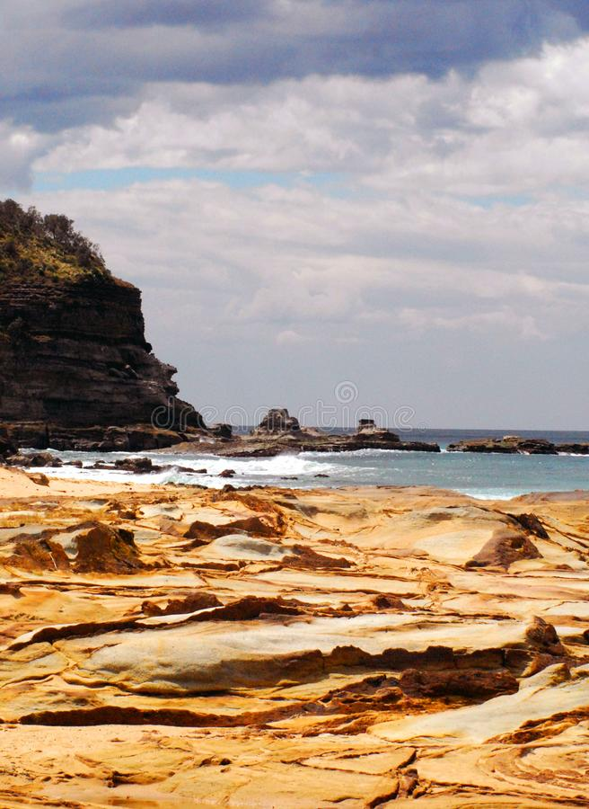 En härlig sikt av kustlinjesöderna av Sydney, Australien royaltyfria foton