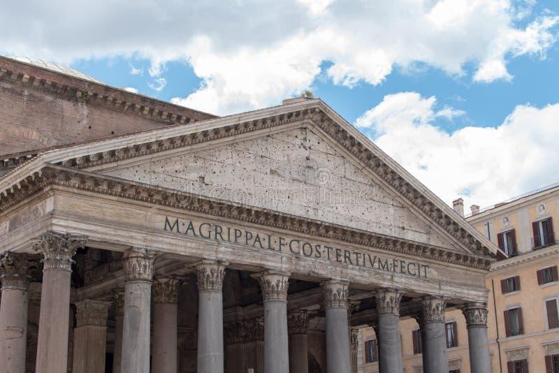 En härlig sikt av panteon i Rome i Italien royaltyfria foton