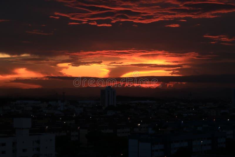 En härlig solnedgång i Vila Velha /ES arkivfoto