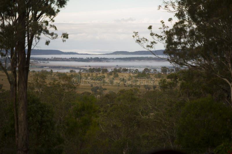 En härlig soluppgång över landskapet av Toowoomba, Australien royaltyfria bilder