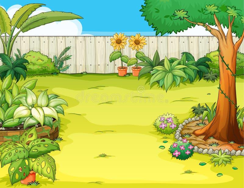 En härlig trädgård vektor illustrationer