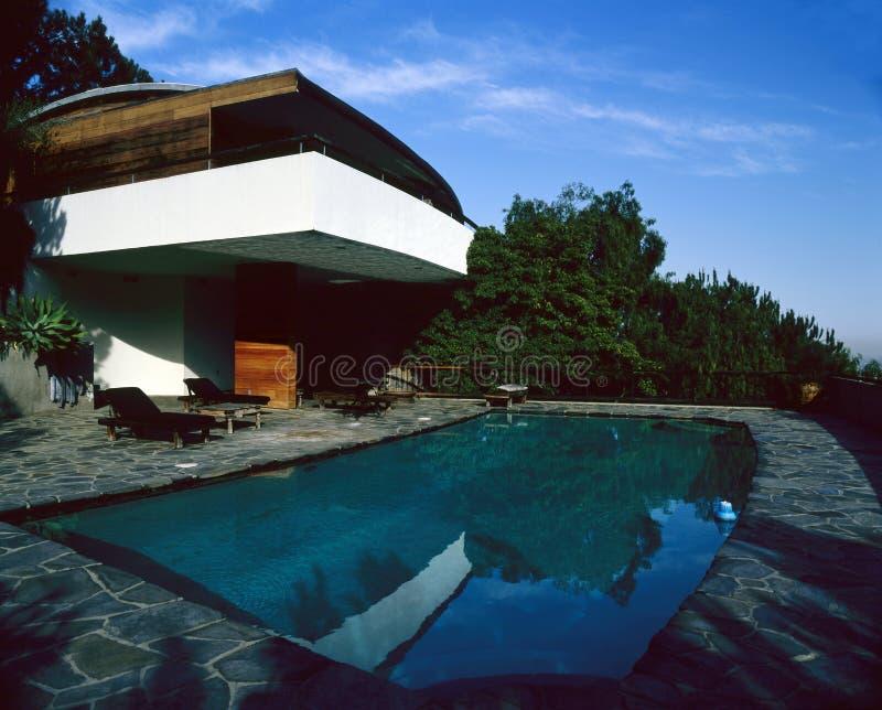 En härlig villa i Beverly Hills, Los Angeles arkivbilder