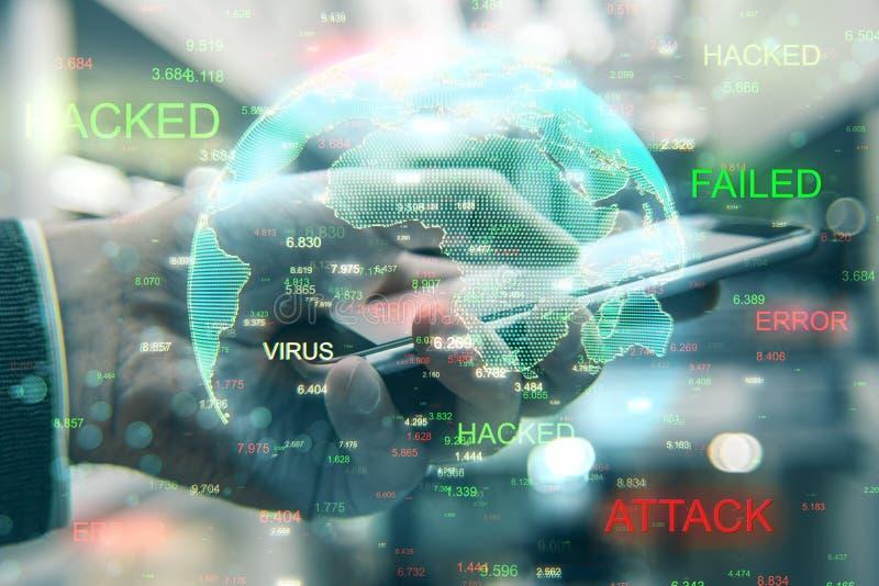 En hacker- och beräkningsbegrepp arkivbilder