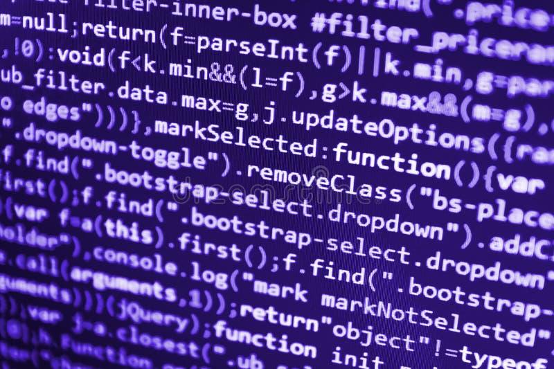 En hackerapi-text på datorskärmen arkivfoto
