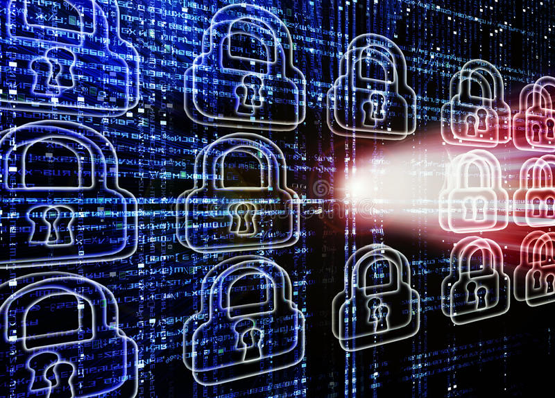 En hackerattack royaltyfri bild