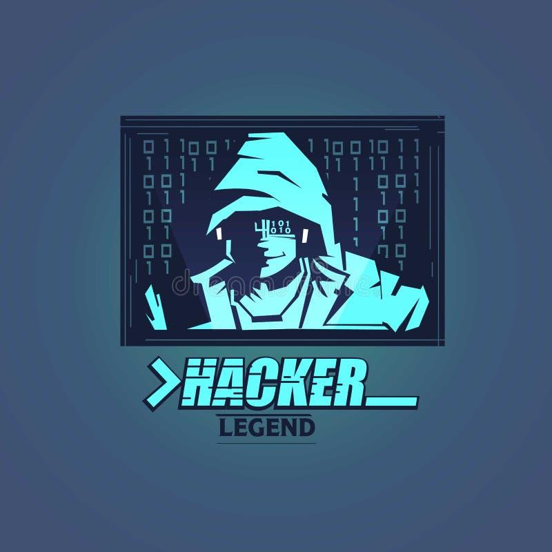 En hackerlogo - vektor royaltyfri illustrationer