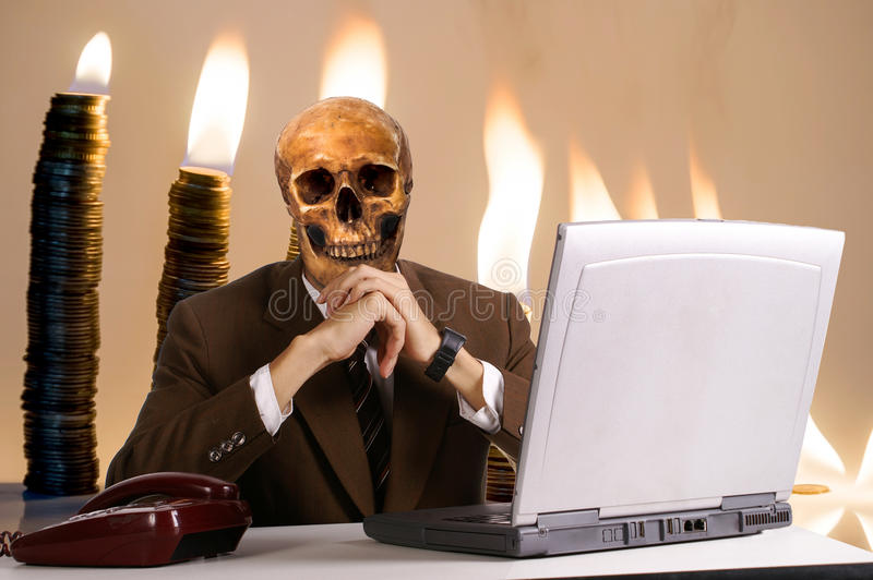 En hackermalwaredator arkivfoton