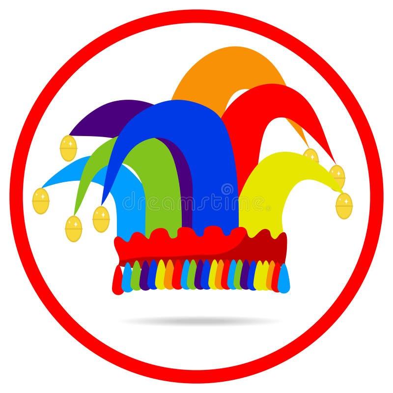 En hatt för clown` s vektor illustrationer