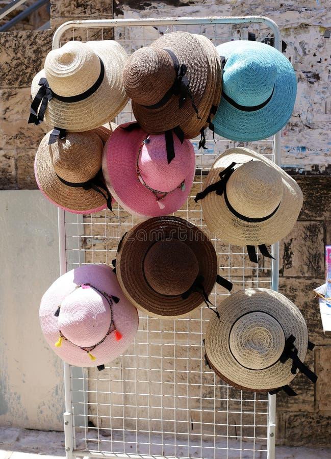 En hatt ?r en hatt med en svans och vanligt med ett br?tte arkivbild