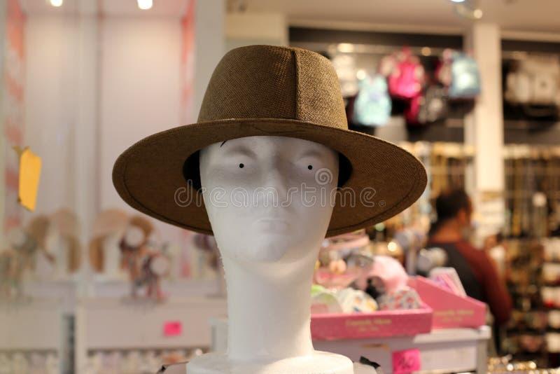 En hatt ?r en hatt med en svans och vanligt med ett br?tte royaltyfri foto